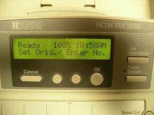 ремонт принтера RICOH FAX3900L