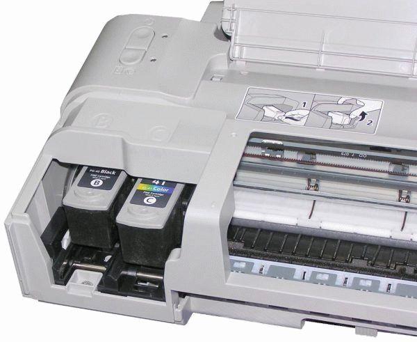 как из принтера canon достать вытащить картридж