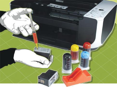 после заправки картриджа принтер canon mp280 не печатает