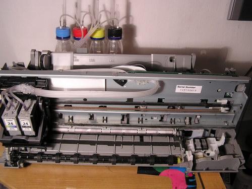 как картридж вставить в принтер canon
