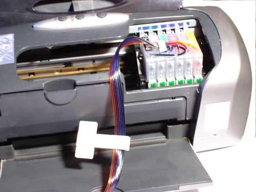 как подключить снпч к принтеру epson