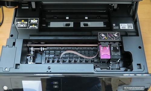 как вытащить картридж из hp принтера