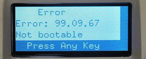 ошибка hp принтера