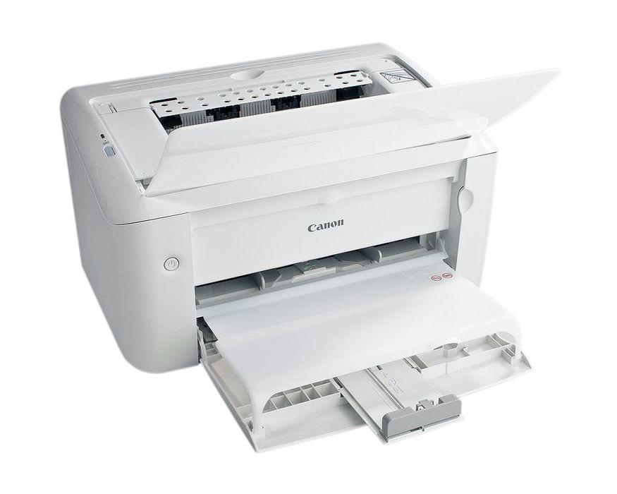 почему принтер кэнон печатает белые листы