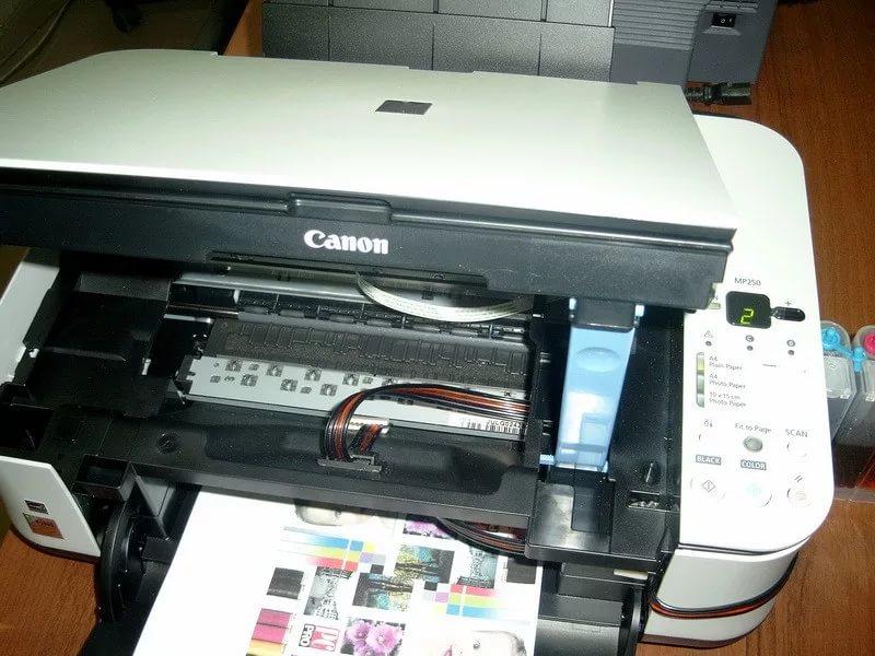 замена картриджа в принтере canon