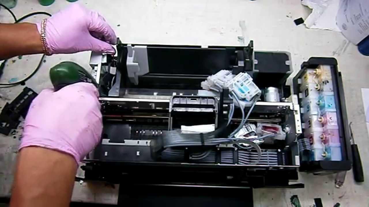 Epson L800 прочистка дюз