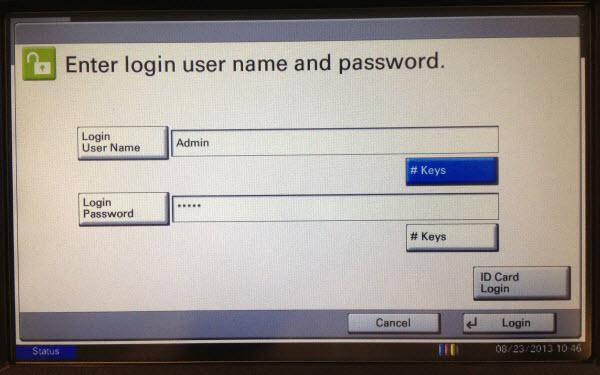 kyocera 2030dn пароль администратора