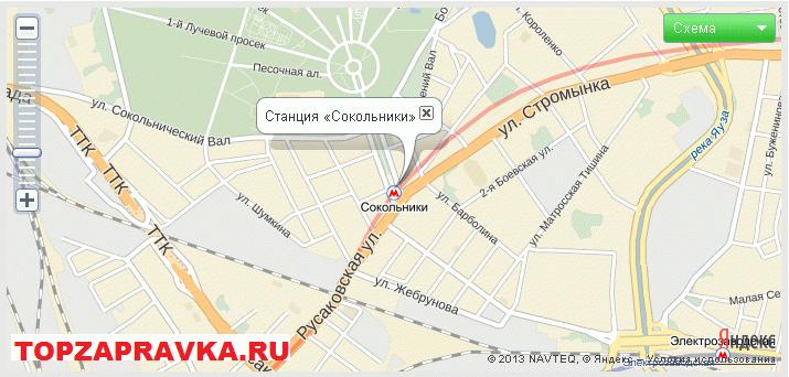 ремонт принтера, заправка картриджей метро Сокольники