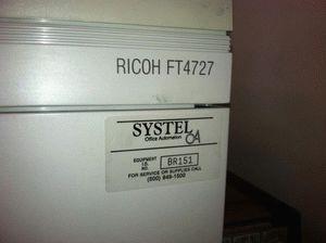 ремонт принтера RICOH FT4727