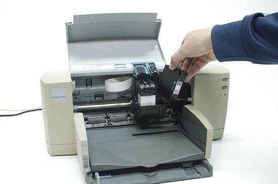 как снять картридж с принтера canon