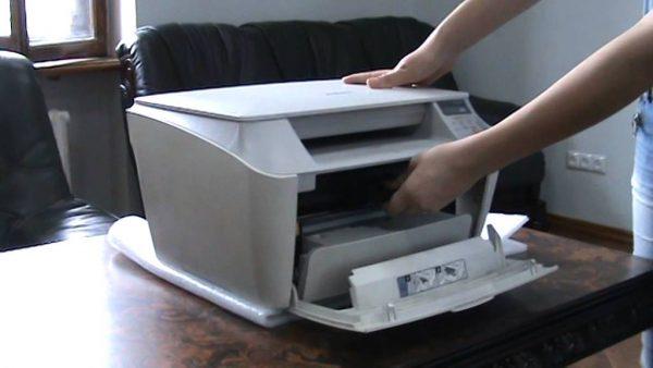 как достать картриджи из принтера canon