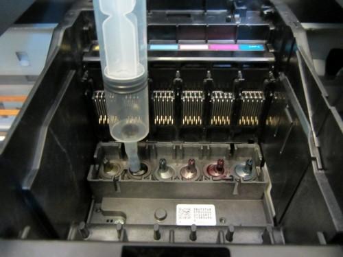Не печатает черный цвет в принтере epson