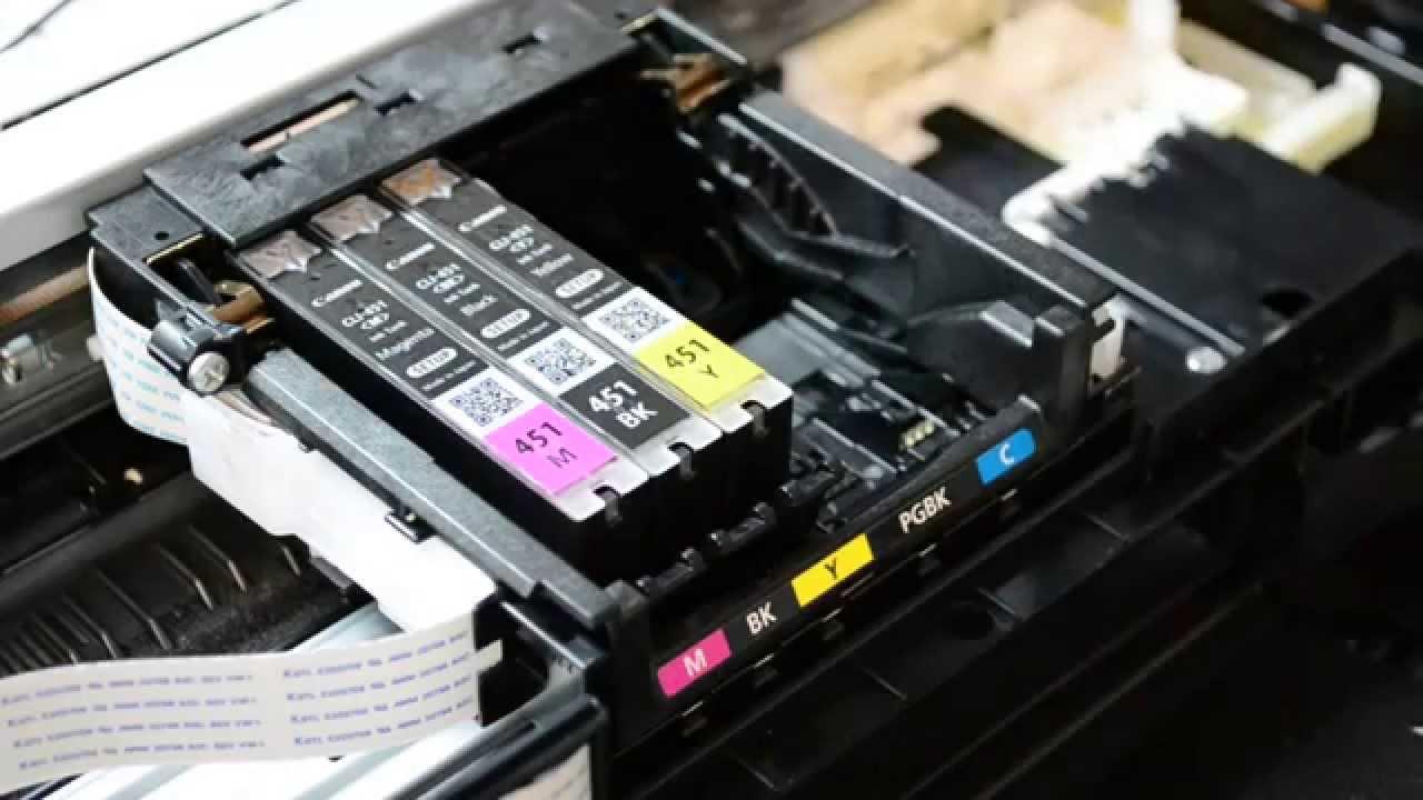 canon pixma промывка печатающей головки