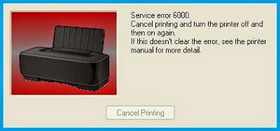 canon 6000 ошибка
