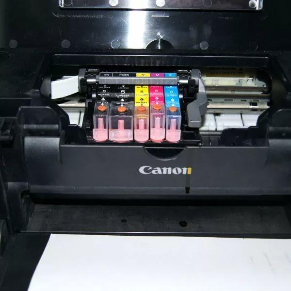 как промыть картридж струйного принтера canon