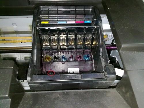 epson как снять печатающую головку
