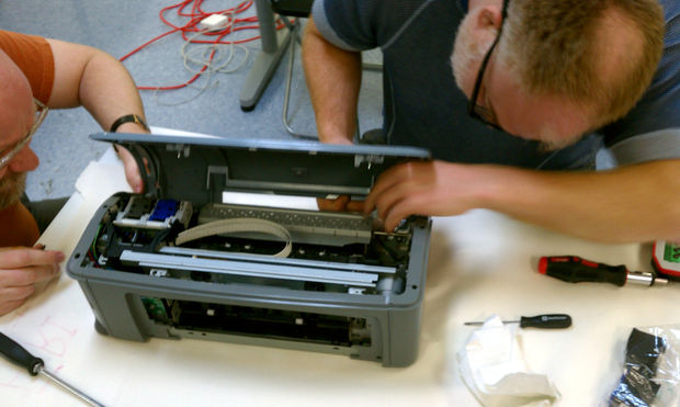 как вставить картриджи в принтер canon pixma