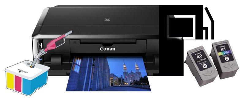 Почему принтер Canon не печатает хотя краска есть