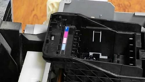 снятие печатающей головки epson