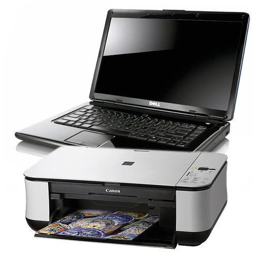 как подключить к ноутбуку принтер кэнон